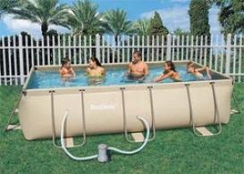 Каркасный прямоугольный бассейн Bestway 56196, 414х216х100 см