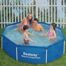 Каркасный бассейн Bestway Steel Pro 56045, 244х61см