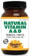 NATURAL VITAMINES A&D 100капс